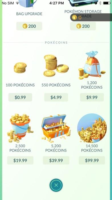 pokemon go coins 3