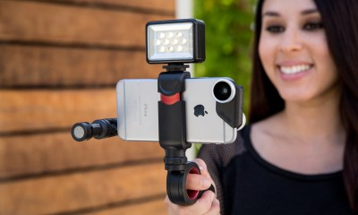 Record better uPhone videos with the Olloclip Pivot Grip.