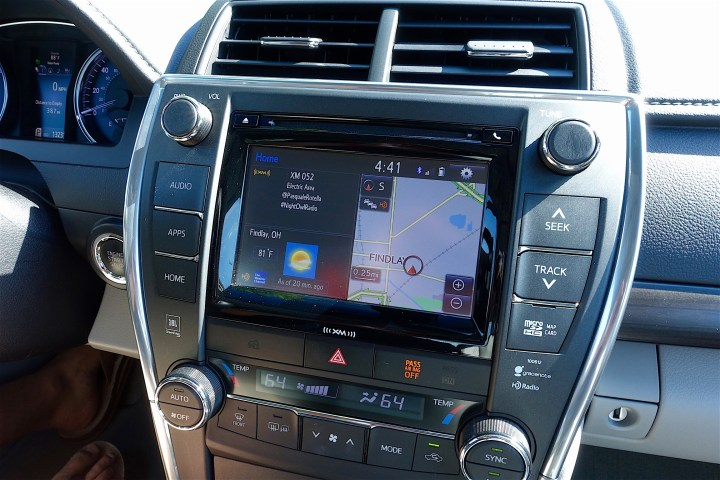 The Toyota Entune infotainment system is easy to use, includes apps and is very reliable.