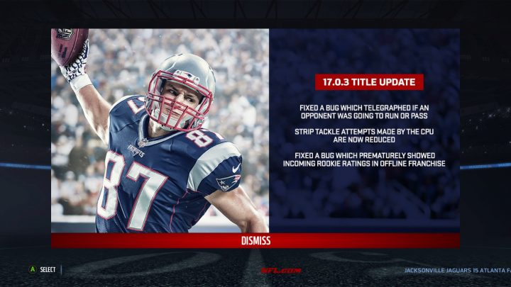 This is what's new in the Madden 17 update 17.0.3.