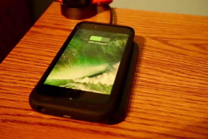 Wirelessly charge your iPhone with Mophie Charge Force.