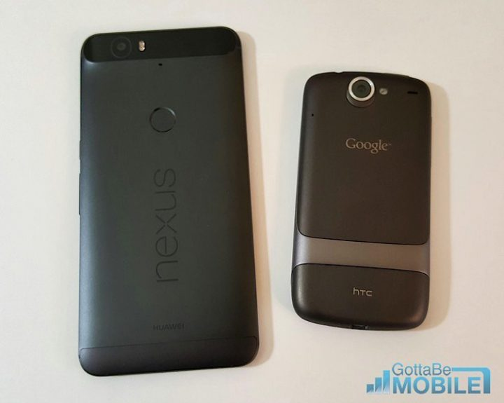 2015 Nexus 6P and the Original Nexus One (made by HTC)