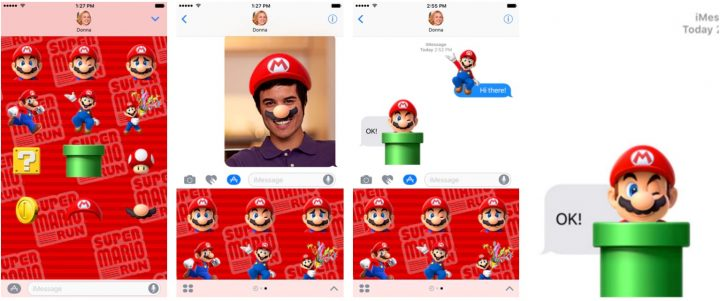 Super Mario Run iMessage App