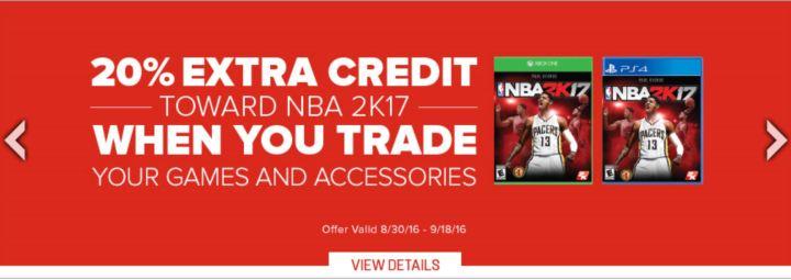 gamestop nba 2k17 deals