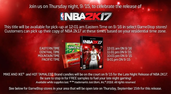 nba 2k17 gamestop