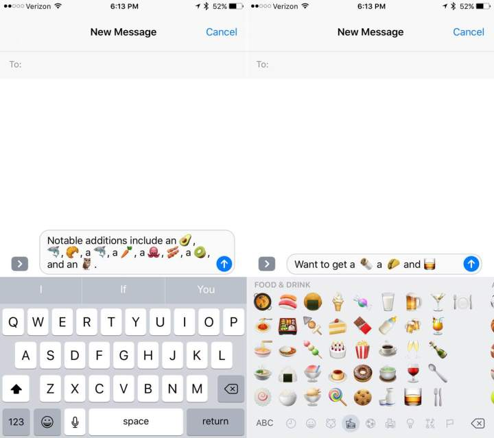 iOS 10.2 beta includes new emojis.