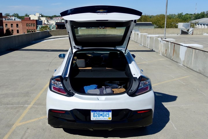 The hatchback lets you haul a decent amount in a small package, but headroom is an issue in the back seat.