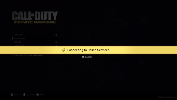 The Call of Duty: Infinite Warfare beta start is late.