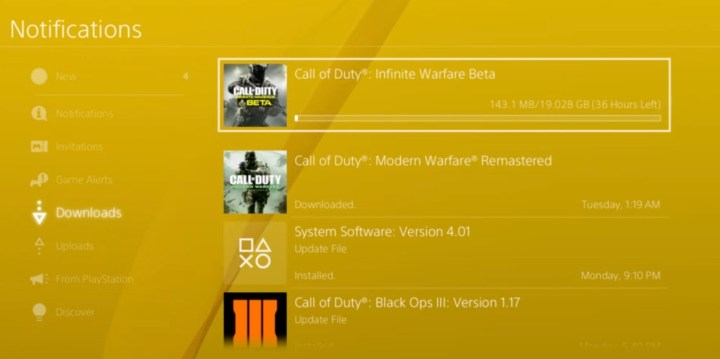 The Call of Duty: Infinite Warfare beta download takes a long time on the PS4 right now.