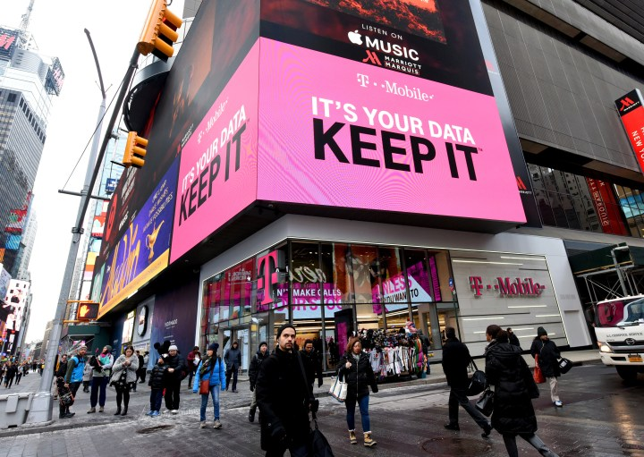 T-Mobile Times Square store opening, Wednesday, Jan. 27, 2016.