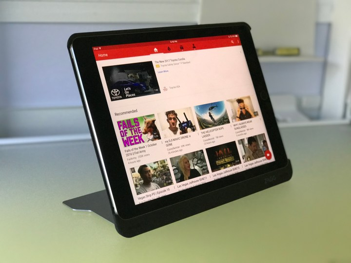 Stand the iPad up to watch shows without the keyboard.
