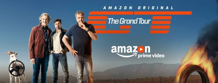 You can watch The Grand Tour on Amazon.com with Jeremy Clarkson, Richard Hammond and James May right now as episode 1 is live for Amazon Prime members.