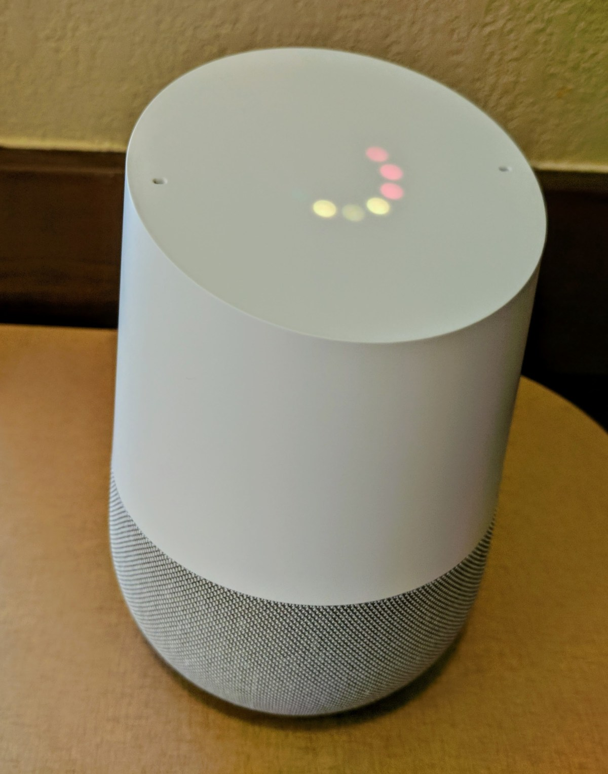 google home volume indicators