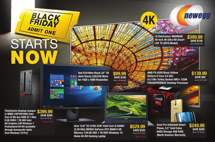 Newegg Black Friday 2016 Ad