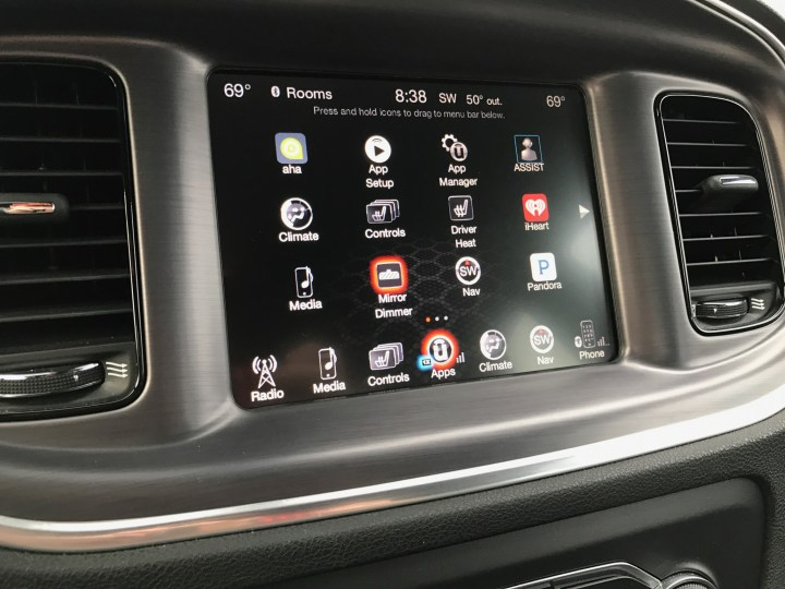 The UConnect system is easy to use and the touch screen is responsive.