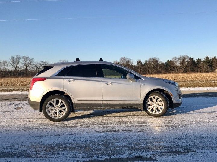 The 2017 Cadillac XT5 performed very well on ice and snow thanks to AWD that is standard on the Platinum package.