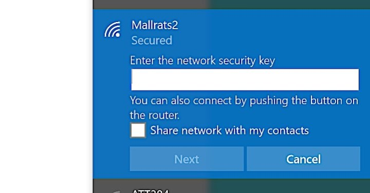 If you see this message you can connect to WiFi without the password.