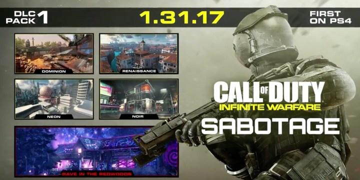 The Call of Duty: Infinite Warfare DLC 1 release date.