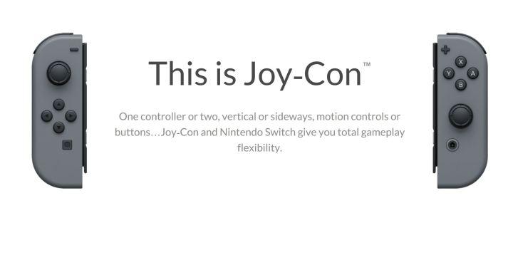 Joy-Cons Offer Gestures