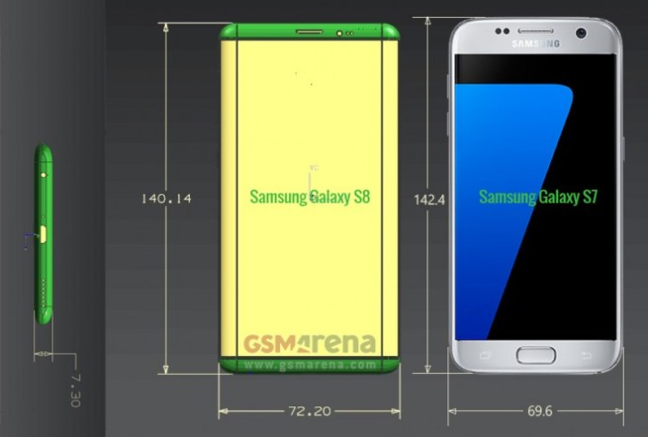 Galaxy S8 vs Galaxy S7 based on leaks