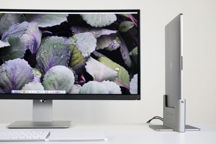 The vertical 2016 MacBook Pro dock from Henge.
