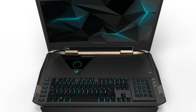 The Acer Predator 21 X is a curved display gaming notebook.