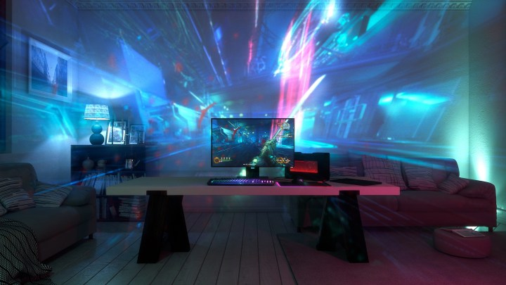 This is what your room could look like with Razer Project Ariana.