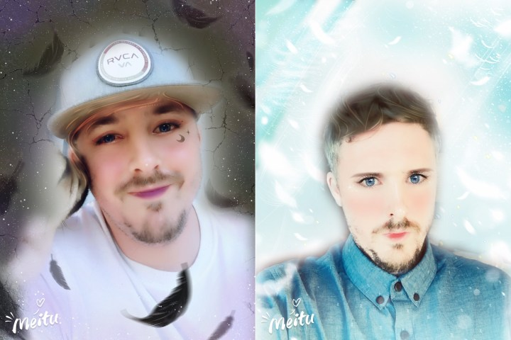 Use the Meitu app to turn yourself into an anime selfie.