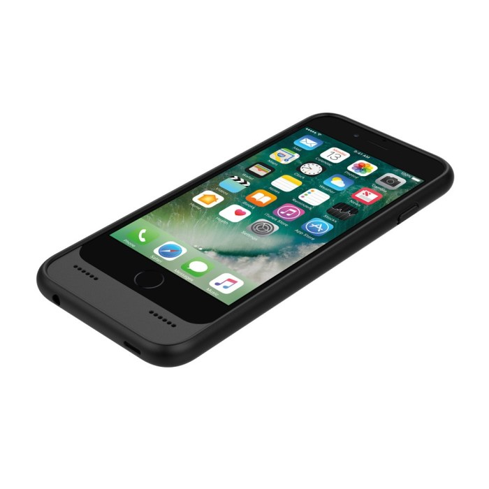 Incipio OX Case for iPhone 7, Black case with two ports on the bottom