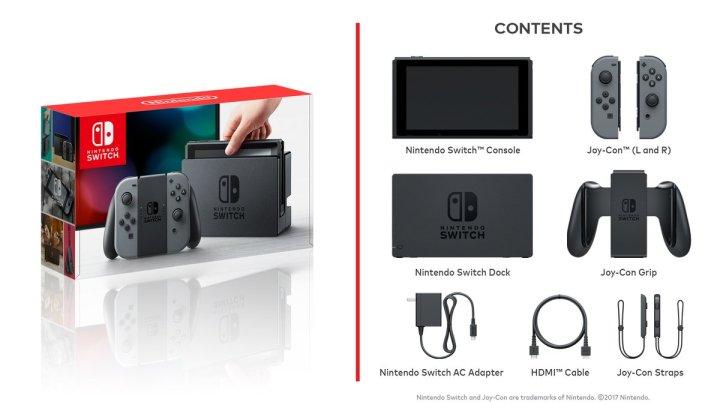Nintendo Swich Bundle Contents