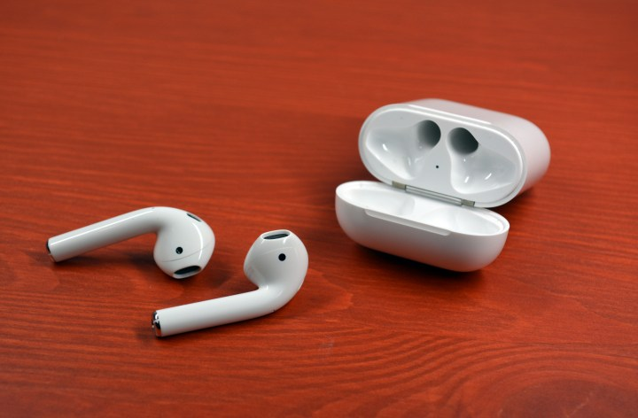 The AirPods sound good and fit well.