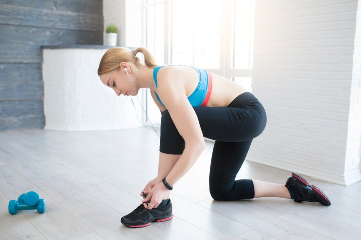 Workout or Connect to Fitbit