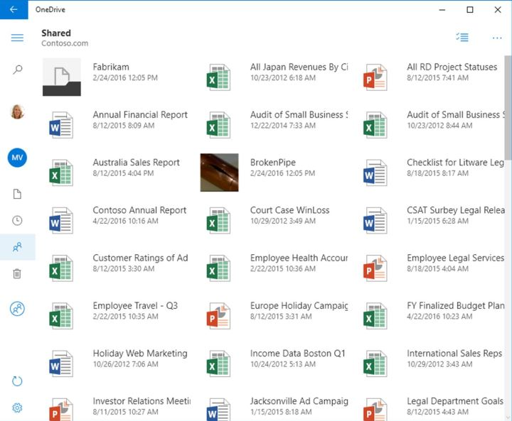 OneDrive for Windows Store App