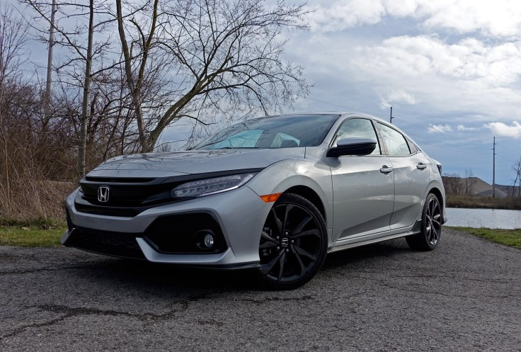 2017 Honda Civic Hatchback Sport Touring Review - front angle