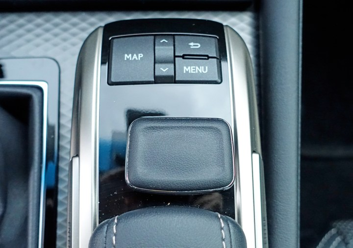 The infotainment controls are hard to use while driving.