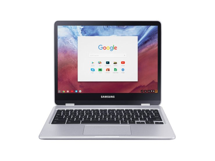 Samsung Chromebook Plus with S Pen in Laptop Mode