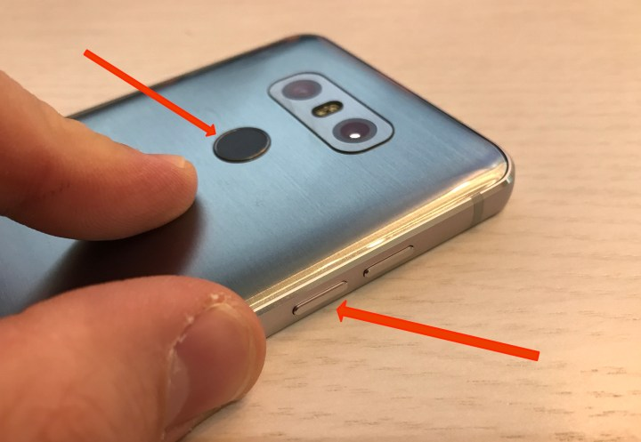 Hold these buttons to reset your frozen LG G6.
