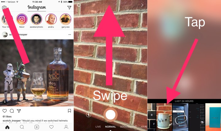 How to upload photos to your Instagram Story.