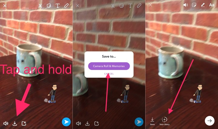 How to upload your Snapchat Story to your Instagram Story.
