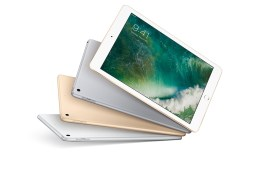 The new 9.7-inch iPad is available in three colors.