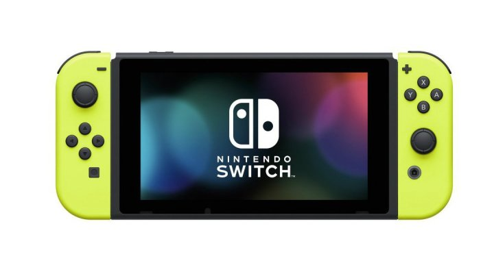 Nintendo Switch with Yellow Joy-Cons