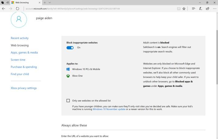 block adults websites windows 7