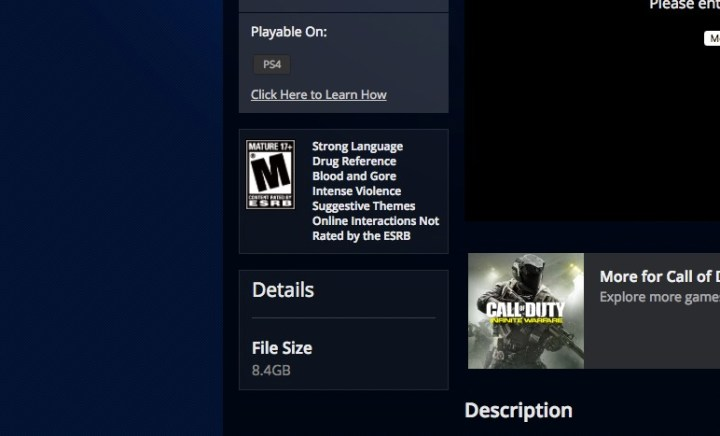 Continuum Infinite Warfare DLC 2 SIze