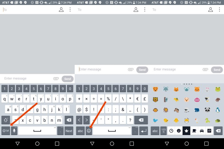 This is how to use the LG G6 emoji keyboard.