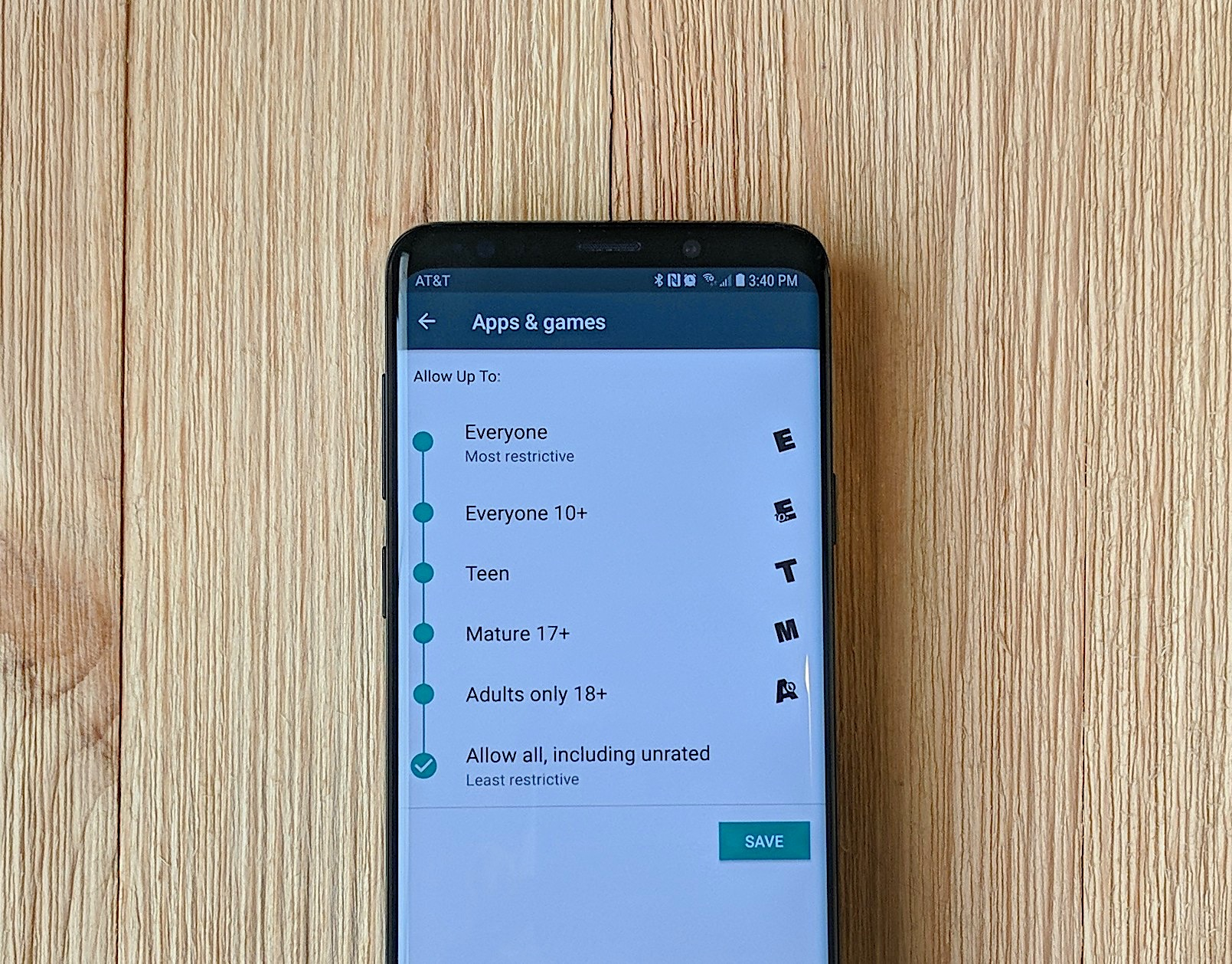 How to put parental controls on samsung galaxy tablet