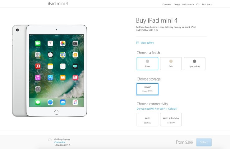 ipad mini sale page