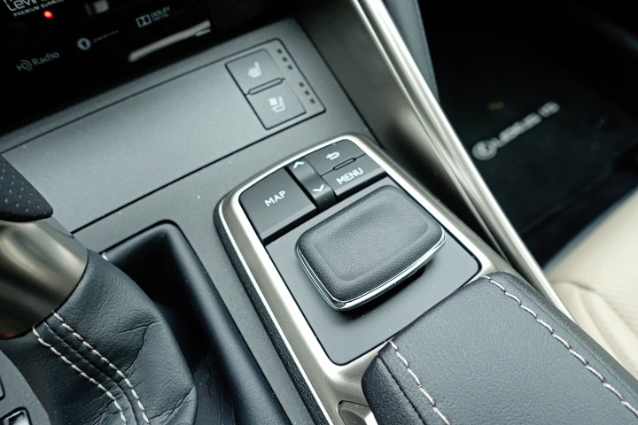 This is how you control the infotainment system on the Lexus IS 350.