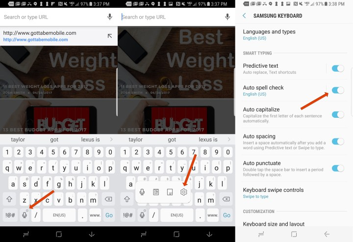 How to improve Galaxy S8 autocorrect.