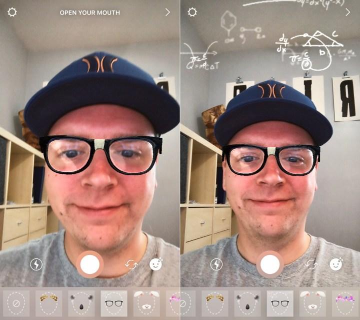 Choose an Instagram Face Filter.