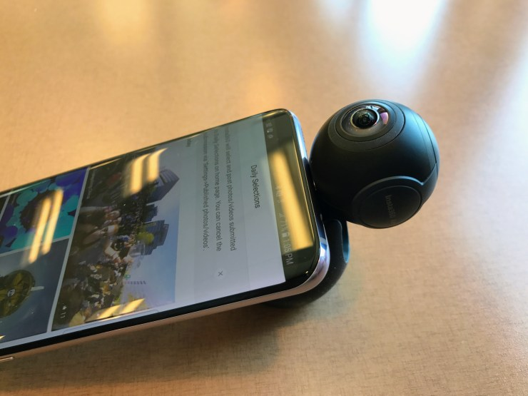 insta360 air 360 degree camera for android sitting down